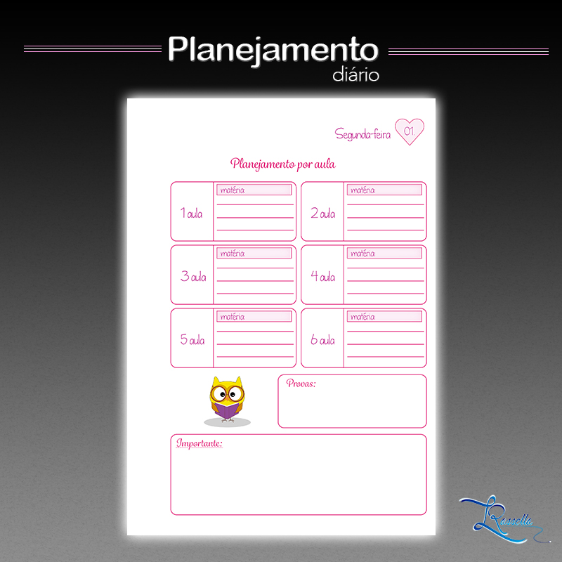 planner professor instagram planejamento