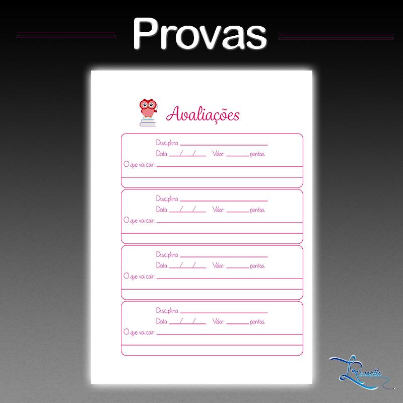 planner professor instagram provas