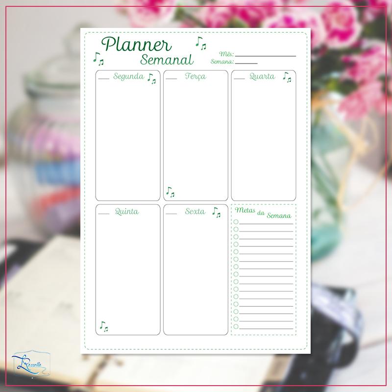 instagram planner semanal modelo 1
