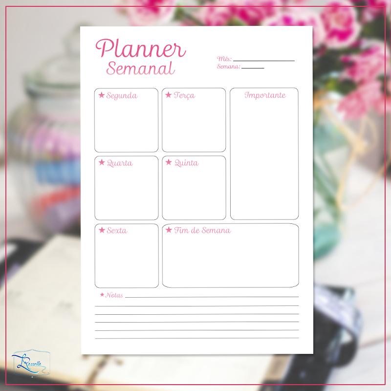 instagram planner semanal modelo 4