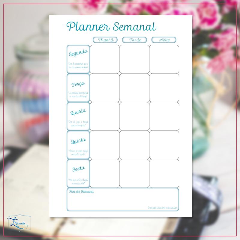 instagram planner semanal modelo 5