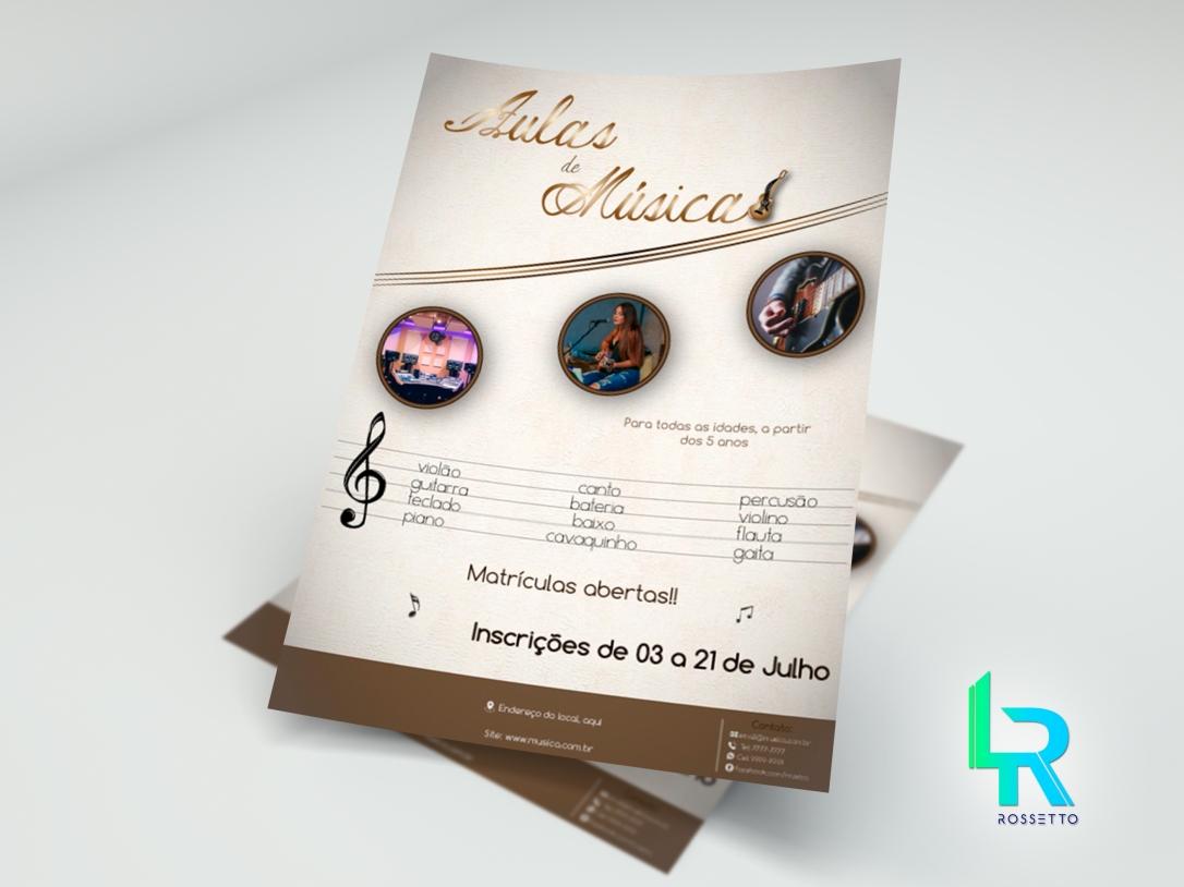 flyer musica postar